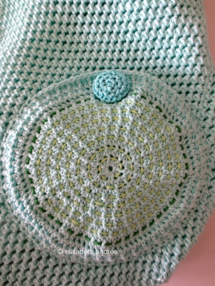 crochet bag back pocket