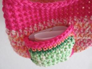 crochet bag for Sophie pocket