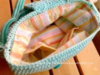 crochet bag lined with inside pocket