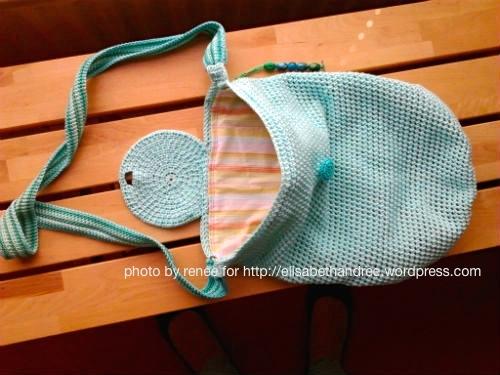 crochet bag lined