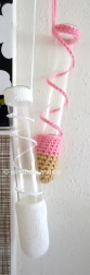 crochet hangers for glass tubes