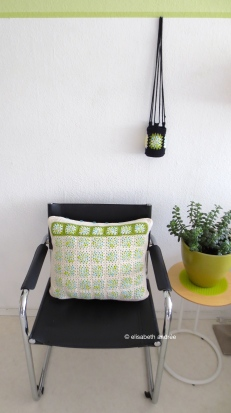 cushion cover on chair, white side