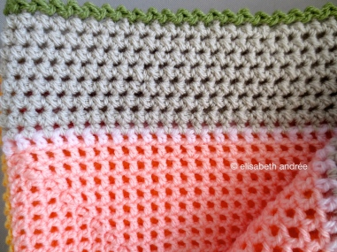 lacy with dots blanket edge
