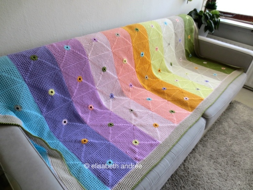 lacy with dots blanket multi colors