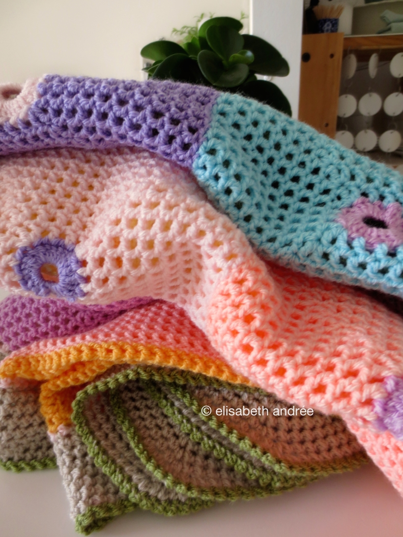 lacy with dots blanket by elisabeth andrée