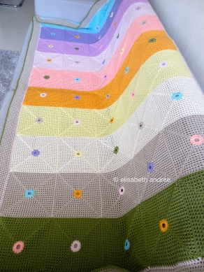 lacy with dots blanket finished