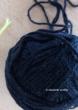 leftover yarn black