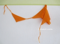 crochet orange flags garland