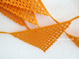 crochet orange triangles garland