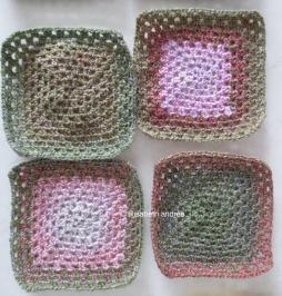 variegated blocks green pink