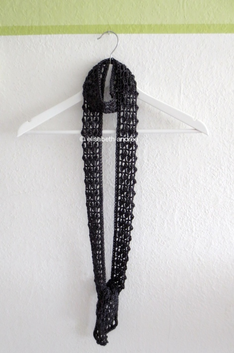anthracite lacy summer scarf on hanger