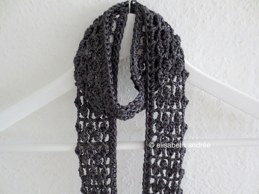 Pink And Anthracite Crochet Elisabeth Andre