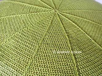 wip green pouf close up