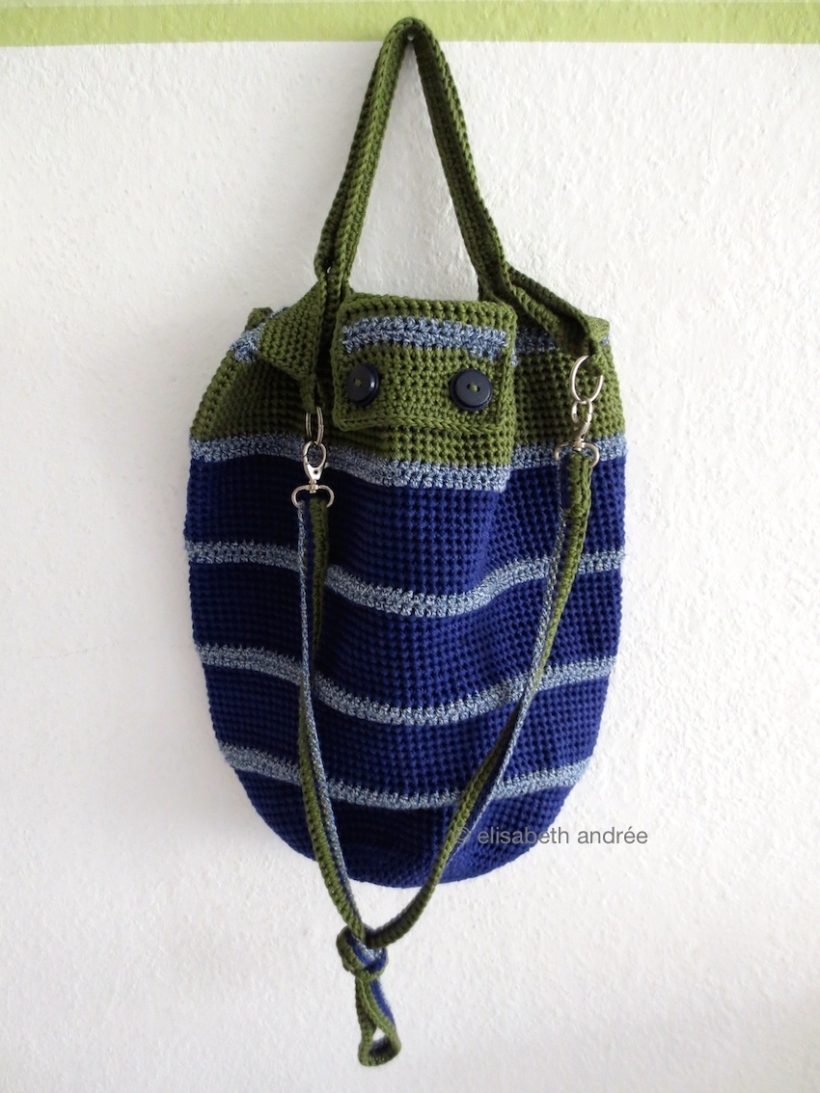 blue and green bag by elisabeth andrée