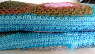 crochet doggie bed folded