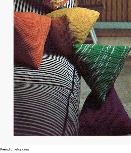 Vintage Crochet Pattern PDF 257 Triangular Cushion Pillows