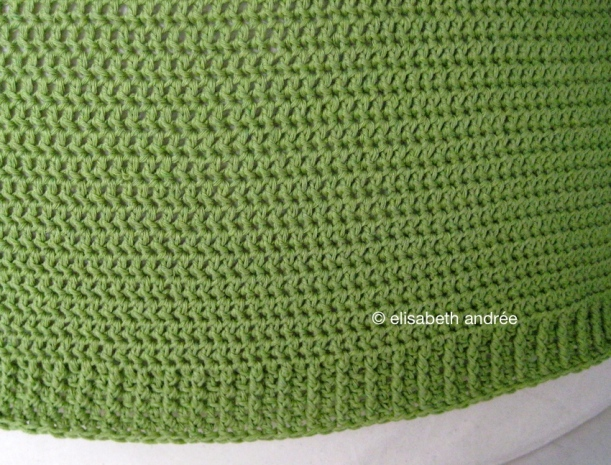 wip edge of green pouf