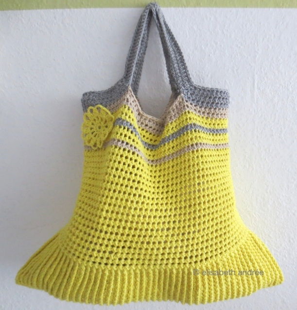 wip yellow shopper by elisabeth andrée