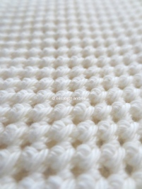 work in progress white crochet stitches