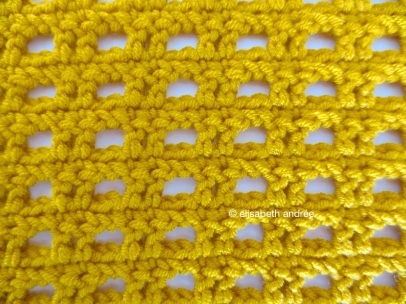 crochet stitch pattern front