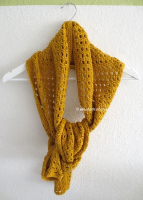 mustard yellow scarf by elisabeth andrée
