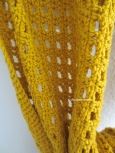 mustard yellow scarf close up