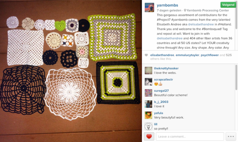 picture Instagram Yarnbombs