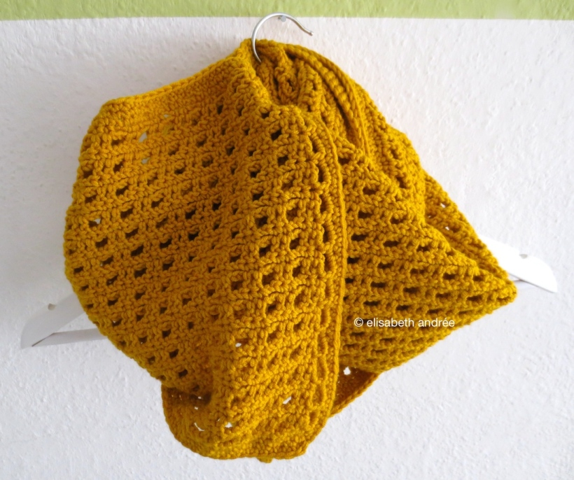 the edge of the mustard yellow scarf by elisabeth andrée