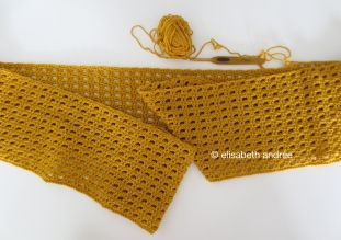wip mustard yellow scarf by elisabeth andrée