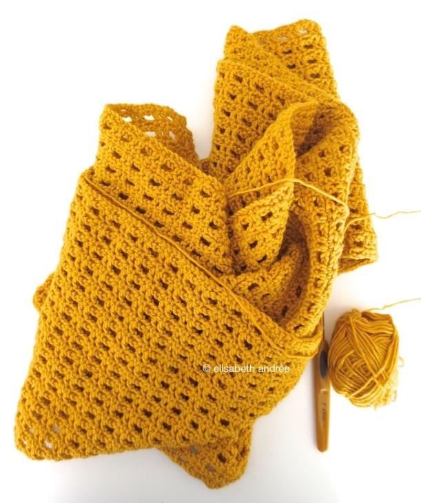work in progress crochet scarf by elisabeth andrée