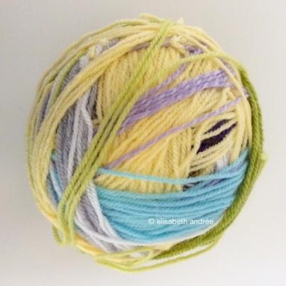 yarn leftovers ball 1 by elisabeth andrée