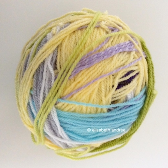 yarn leftovers ball 1 by elisabeth andrée
