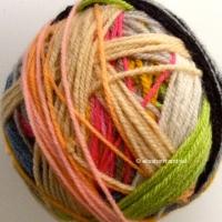 yarn leftovers ball 2 by elisabeth andrée