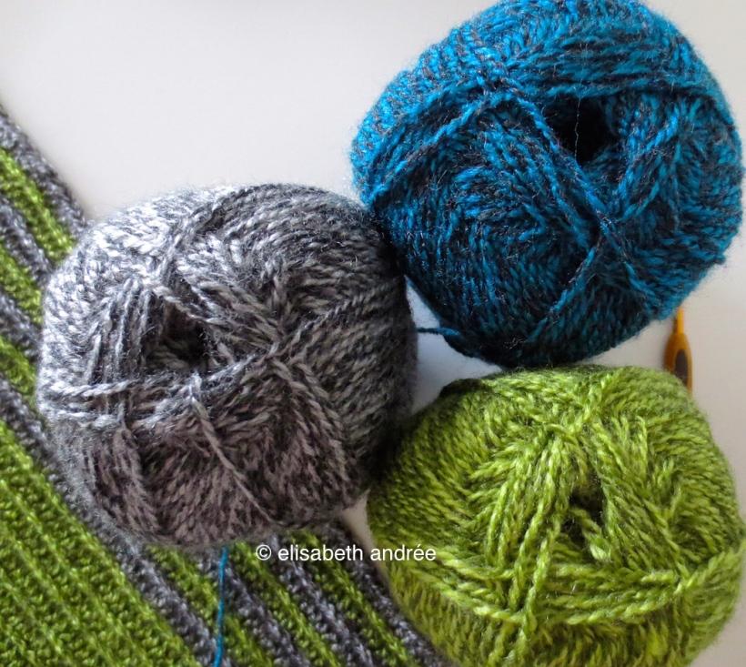 3 shades of variegated yarn