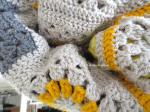 yellows and grays crochet blanket by elisabeth andrée