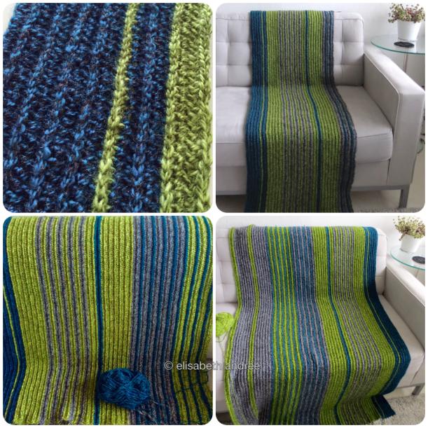 collage soft ribbels crochet blanket