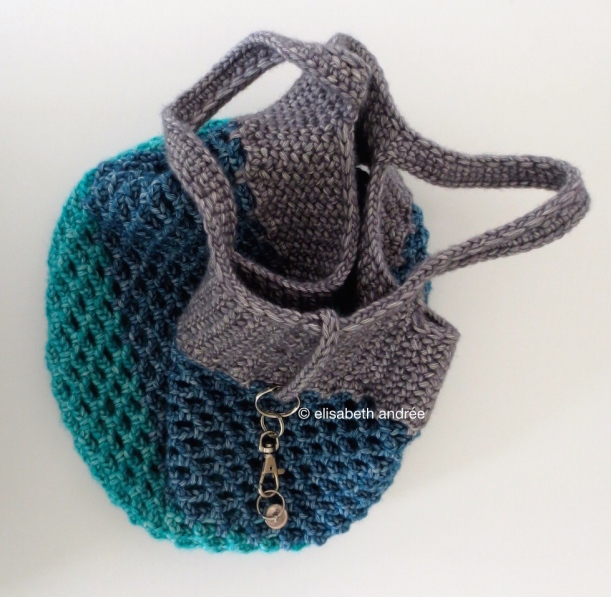 crochet mesh shopper 3 colors yarn