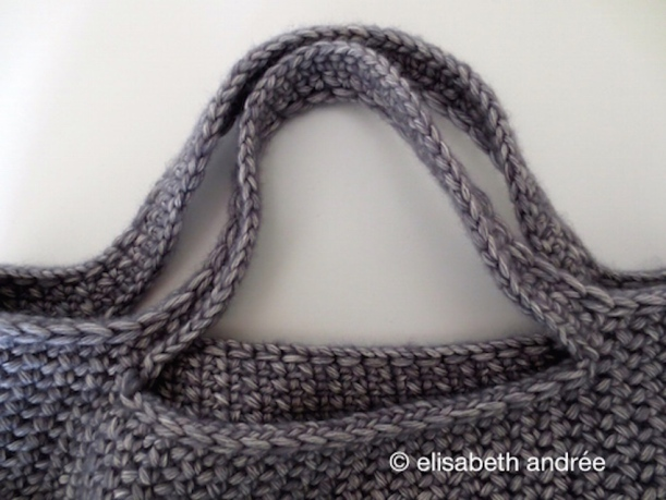 small crochet mesh shopper handles
