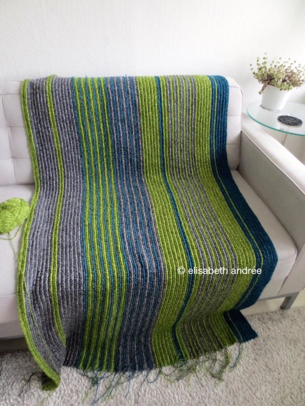 wip crochet soft ribbing blanket by elisabeth andrée
