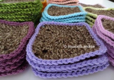 work in progress crochet squares