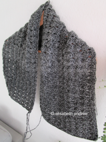 charcoal cowl/scarf in the make