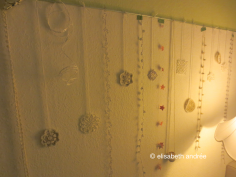 christmas decoration on wall