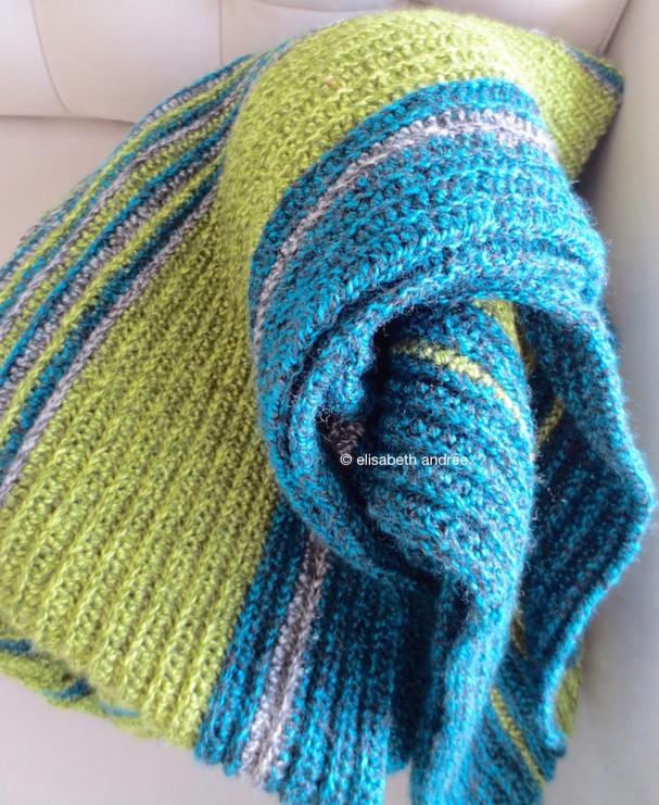 soft ribbels crochet blanket no edge