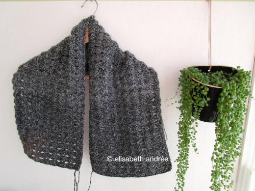 wip charcoal cowl/scarf