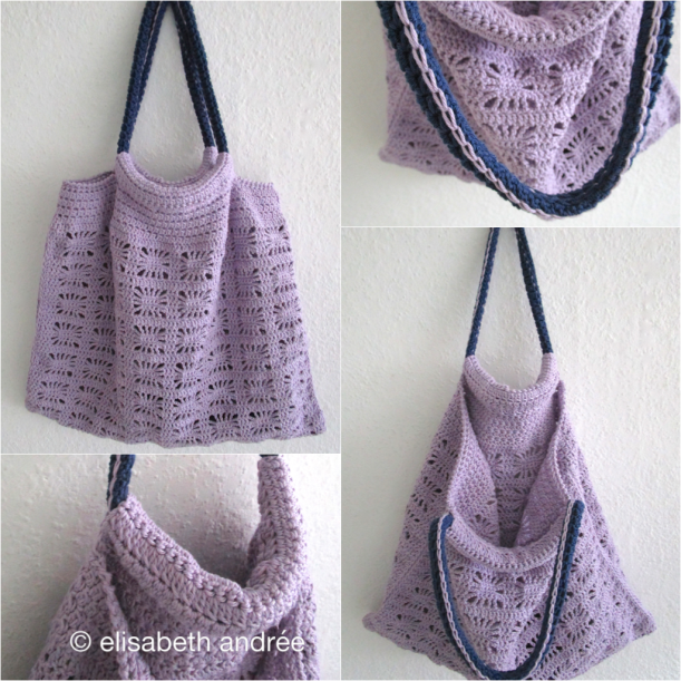 collage lilac spider bag by elisabeth andrée