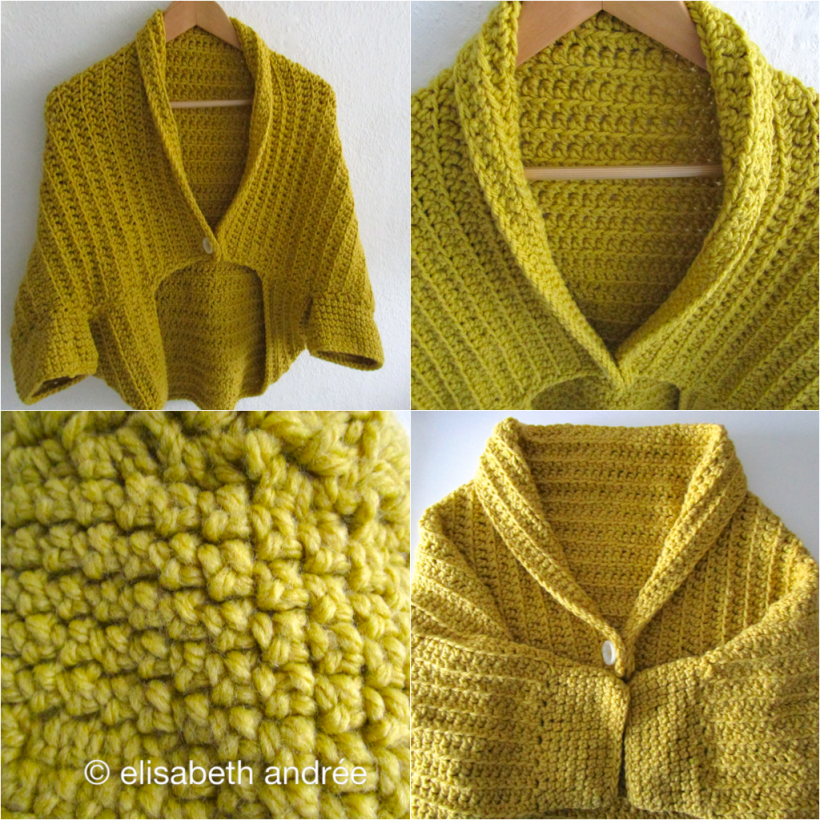 collage yellow shrug by elisabeth andrée