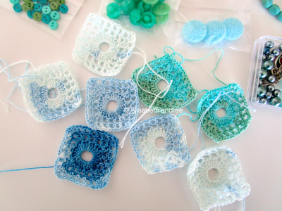 lacy with dot squares by elisabeth andrée
