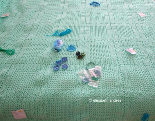 opaline crochet blanket in the works