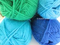 seaglass colored yarn: phildar impact 6