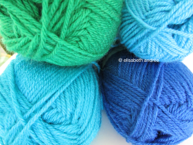 seaglass colored yarn: phildar impact 6